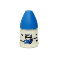 Biberon tétine physiologique silicone super héros bleu 150 ml