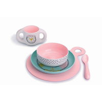Set repas hello fox pink