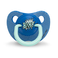 Sucette physiologique silicone 0-6 mois arty baby bleu marine