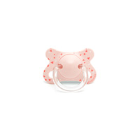 Sucette physiologique silicone 0-4 mois hirondelles rose