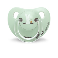 Sucette physiologique silicone 6-18 mois happy bunny vert