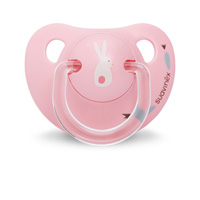 Sucette physiologique silicone 0-6 mois happy bunny rose