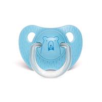 Sucette physiologique ours 0-6 mois bleu