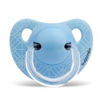 Sucette physiologique silicone panda trame bleu 0-6 mois