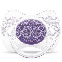 Sucette réversible 4-18 mois éthnic violet