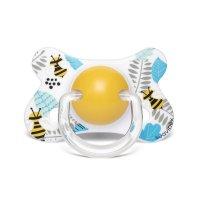 Sucette anatomique reversible silicone 4-18 mois abeille jaune