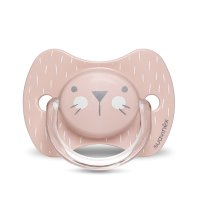 Sucette reversible silicone hygge baby moustache 0-6 mois rose
