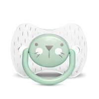 Sucette reversible silicone hygge baby moustache 6-18 mois vert