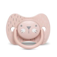 Sucette reversible silicone hygge baby moustache 18 mois et + rose