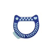 Anneau de dentition arty baby chat bleu