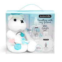 Set baby cologne 100 ml + flacon voyage 50 ml + teddy bear