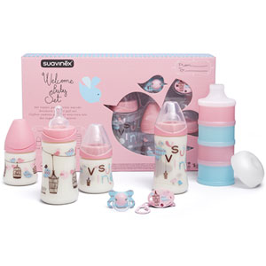 Coffret biberons pack welcome baby fille