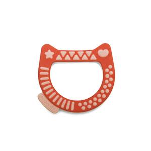 Anneau de dentition arty baby chat rouge