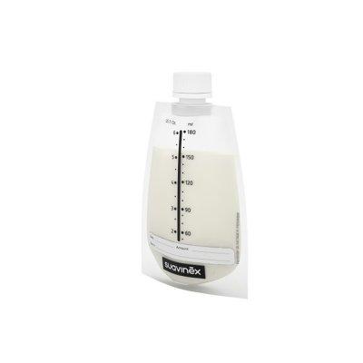 Lot de 20 sachets de conservation du lait maternel avec bouchon Suavinex
