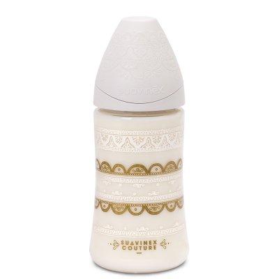 Biberon éthnic 270 ml blanc Suavinex