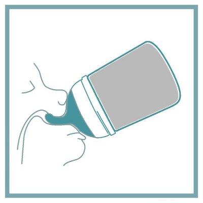 Pack biberon zéro zéro 180 ml spécial allaitement + tétine + poche silicone Suavinex