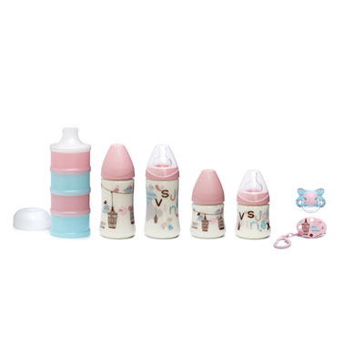 Coffret biberons pack welcome baby fille Suavinex