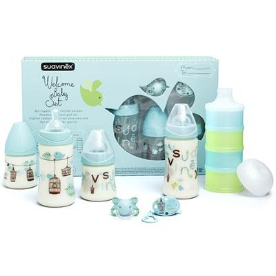 Coffret biberons pack welcome baby garçon Suavinex