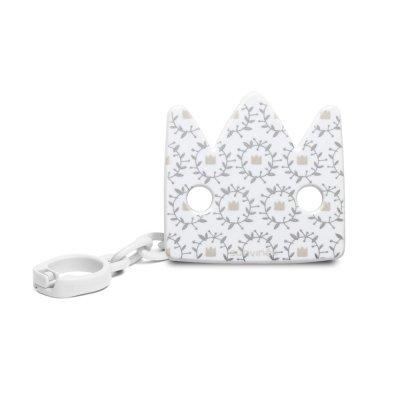 Attache sucette couronne blanc white design Suavinex