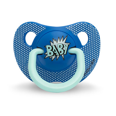 Sucette physiologique silicone 0-6 mois arty baby bleu marine Suavinex
