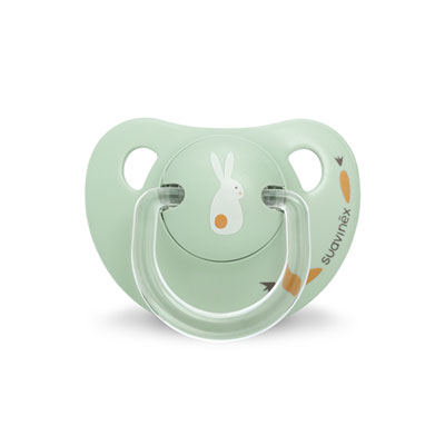 Sucette physiologique silicone 0-6 mois happy bunny vert Suavinex