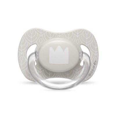 Sucette silicone reversible 0-4 mois couronne white design Suavinex