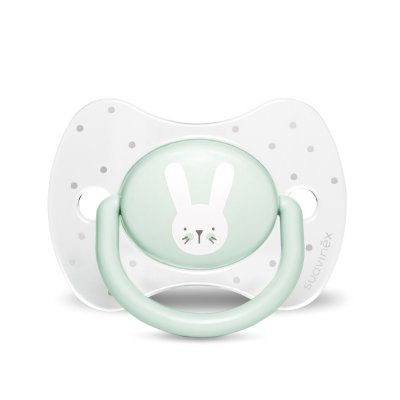Sucette reversible silicone hygge baby lapin 0-6 mois vert Suavinex