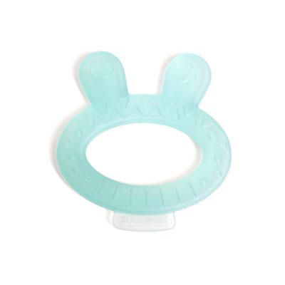 Anneau de dentition arty baby lapin turquoise Suavinex