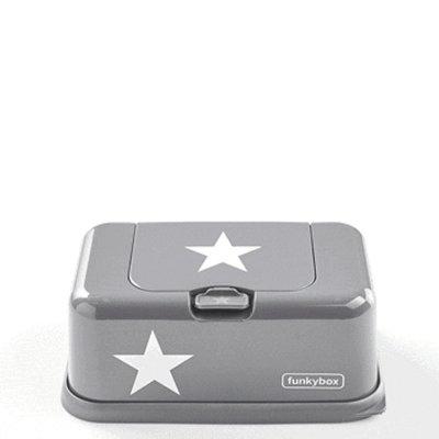 Boîte à lingettes funky box gris avec étoile argent Suavinex