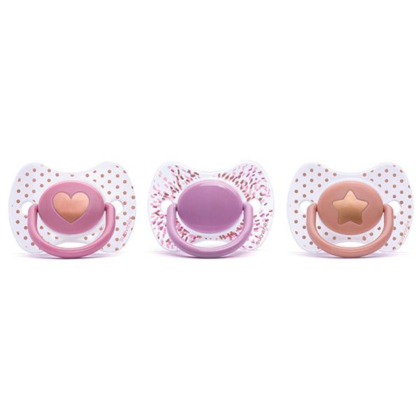 Sucette premium slilicone couture fille 0-4 mois Suavinex