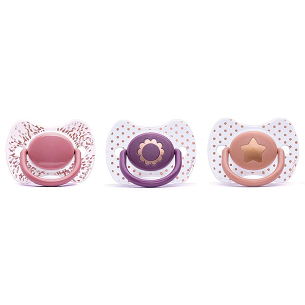 Sucette premium slilicone couture fille 4 mois + Suavinex