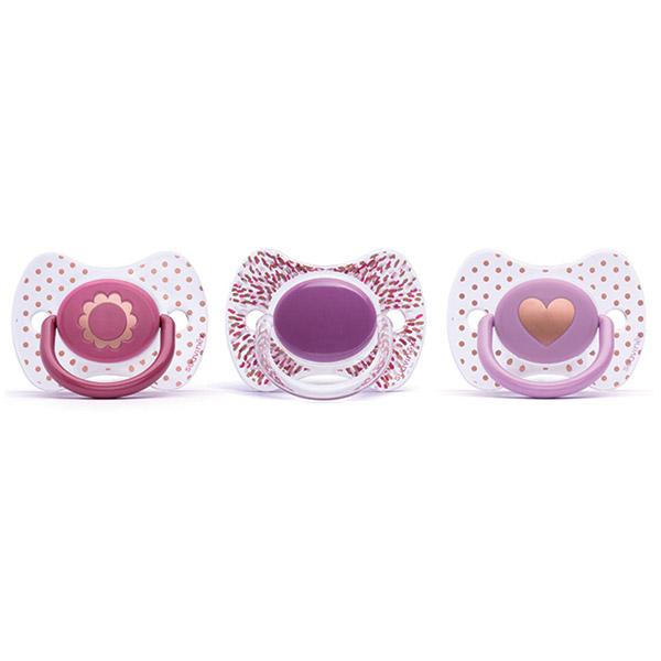 Sucette premium slilicone couture fille 12 mois + Suavinex