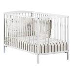 Lit bébé à barreaux 60x120cm leaf blanc