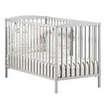Lit bébé à barreaux 60x120cm leaf gris