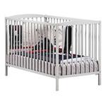 Lit bébé à barreaux 60x120cm gris