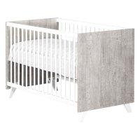 Lit bébé 60x120cm scandi gris