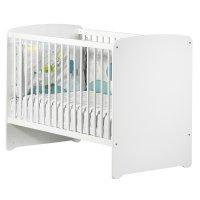 Lit bébé 60x120cm blanc