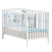 Lit bébé à barreaux 60x120cm teddy blanc