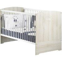 Lit bébé évolutif little big bed 70x140cm smile hêtre cendré