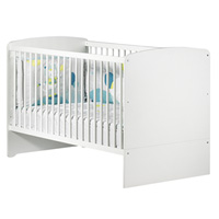 Lit bébé évolutif little big bed 70x140cm blanc