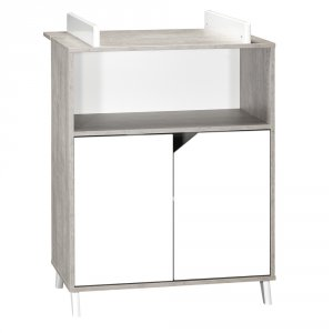 Commode bébé avec dispositif à langer scandi gris