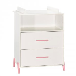 Commode avec dispositif à langer joy rose