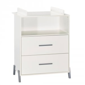 Commode avec dispositif à langer joy gris