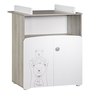 Commode bébé avec dispositif à langer teddy