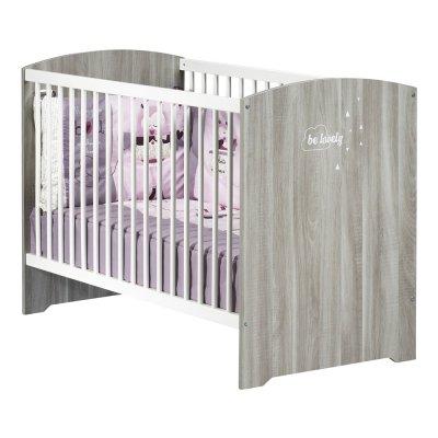Lit bébé 60x120cm smile chêne silex Baby price