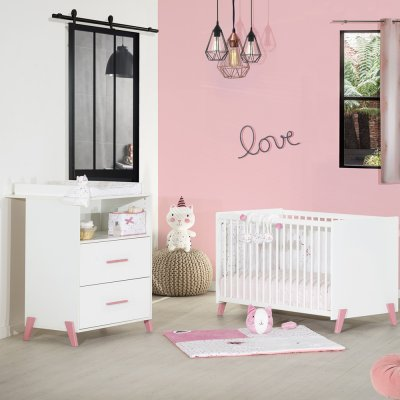 Lit bébé 60x120cm joy rose Baby price