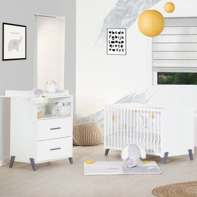 Lit bébé 60x120cm joy gris Baby price