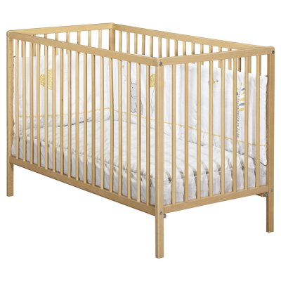 Lit à barreaux 60 x 120 cm 3 positions hêtre naturel Baby price