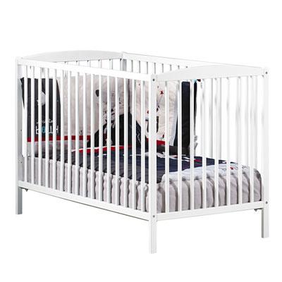 Lit bébé à barreaux 60x120cm nao blanc Baby price