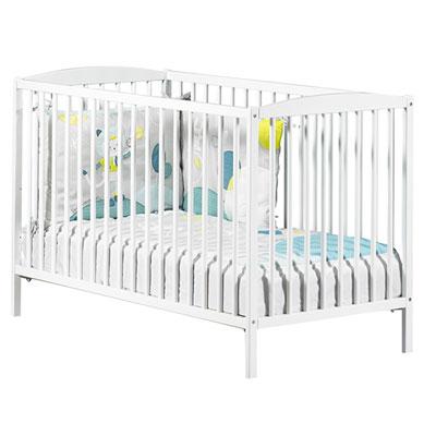 Lit bébé à barreaux 60x120cm blanc Baby price